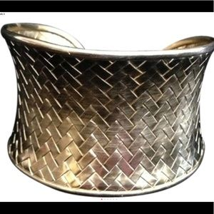 Satay Medium Basketweave cuff bracelet